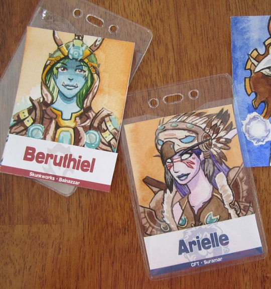 A few more badge action shots.