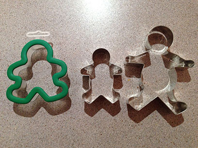 Don't ask me why I have so many little person cutters, or why the last one looks like a chalk line incident.