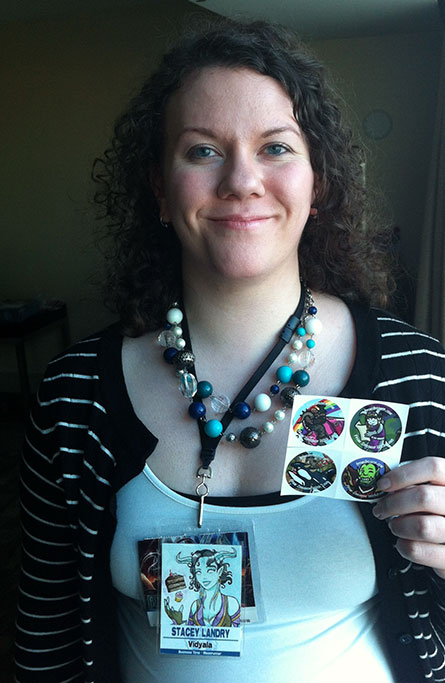Also shown: From Draenor With Love stickers.