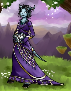 My idea of a draenei wedding dress. I should have a do-over of this idea.