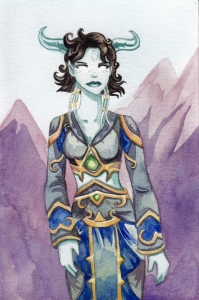 The oldest watercolour I've done of Millya.